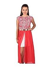 Vteens Off White & Red Maxi Dress (Medium)