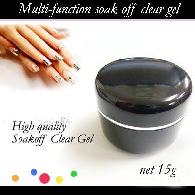 クリアジェル ソークオフジェル (3in1 ソフトジェル) LED・UV対応 15g / オリジナルストーン付