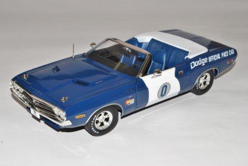 Dodge Challenger 1971 Cabrio Blau Weiss Ontario Motor Speedway Nr 0 California 1/18 Greenlight Modell Auto