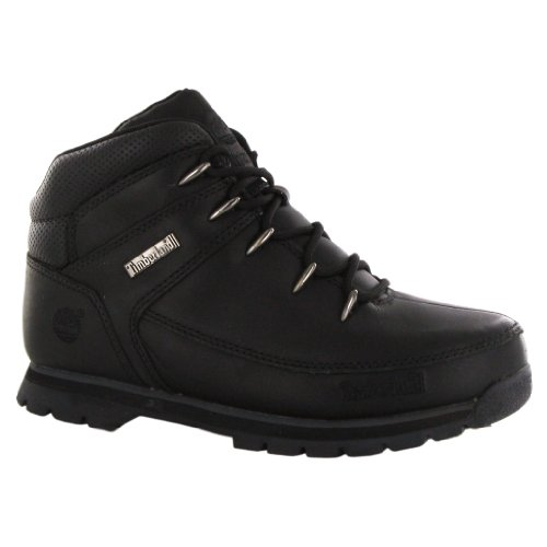 Timberland Euro Sprint Black Leather Youths Boots