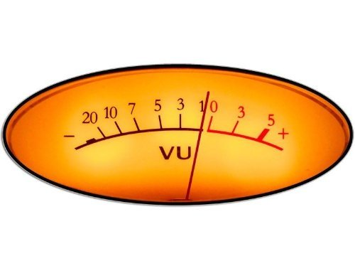 VINTAGE Analog VU Meter Sticker (dj engineer music mic decal) (Analog Decal compare prices)