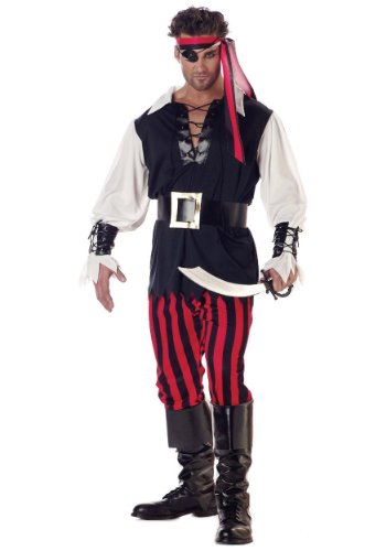California Costumes Mens Buccaneer Caribbean Cutthroat Pirate Theme Party Dress