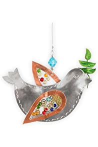 Pilgrim Imports Peace Dove Metal Fair Trade Ornament