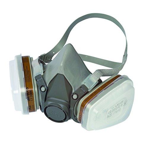 3M-Mehrweg-Halbmaske-mit-Wechselfiltern-fr-Farbspritz-und-Maschinenschleifarbeiten-2-Stck