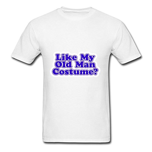 Styling T-shirt Gray Like My Old Man Costume? Painting Men 100% Cotton Short Sleeves