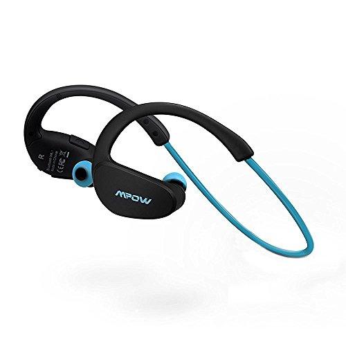 Mpow Cheetah Auricolari Wireless Bluetooth 4.1 Headset Stereo Cuffie Sport con Microfono e AptX Headphone per iPhone 6s plus/6s, iPhone 6/6 Plus, iPhone 5s/5c/5/4s, iPad, LG G2, Samsung Galaxy S6 Edge+/S6 Edge/S6/ S5/S4/S3, Note 4/Note 3/Note 2, Sony, Huawei ed altri Smartphone - Blu