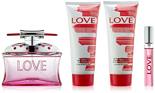Sesso in the città Amore 100 ml Eau de plus spruzzo Parfum 150 ml lozione per il corpo plus 150 ml Gel doccia plus 15 ml Eau de Parfum Spray Pocket Gift Set per voi, 1 Pack (1 x 100 ml)