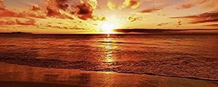 3 mm aluminium, satinised Splash Kitchen Tile Artland Landscapes Sea idizimage: Beautiful Tropical Sunset On Beach in sizes Large Selection in Our Shop, 56x180 cm