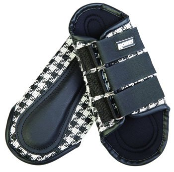 Roma Houndstooth Splint Boots - Size:Full Color:White/Black
