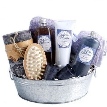 Pampering Lavender Bath & Body Spa Gift Basket with Candles - Great Mothers Day Gift Idea for Her