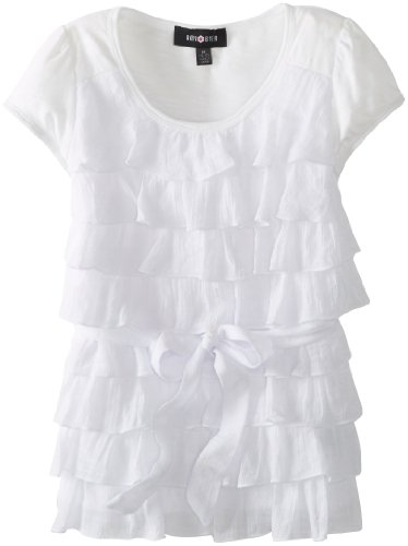 Amy Byer Girls 7-16 Gauze Tier Top