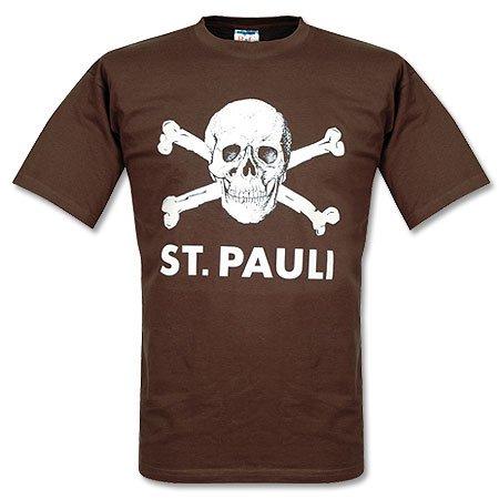 FC St, Pauli - T-shirt con teschio colore marrone