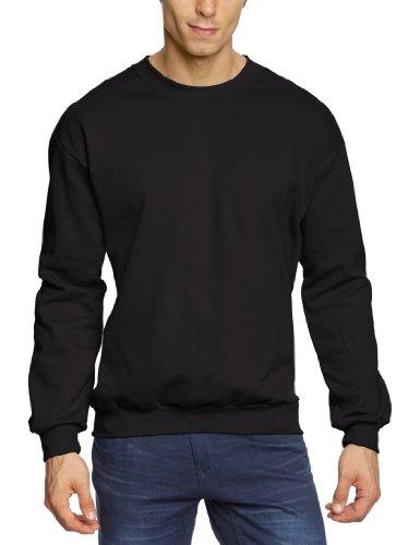 Anvil - Felpa regular fit, colletto tondo, manica lunga, uomo, Nero (Schwarz (BLA-Black)), L