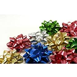 (42) Charlee D's Deluxe Present Bows, Peel and Stick, Assorted Seasonal / Holiday / Christmas Colors and Styles Gift Bows