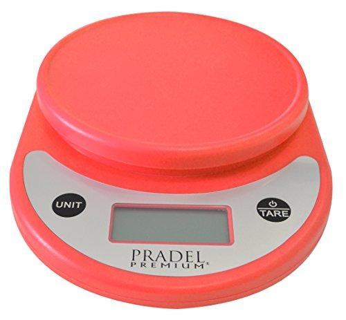 Pradel Premium 730 Balance de Cuisine Précision ABS Rouge 21 x 15,5 x 4 cm