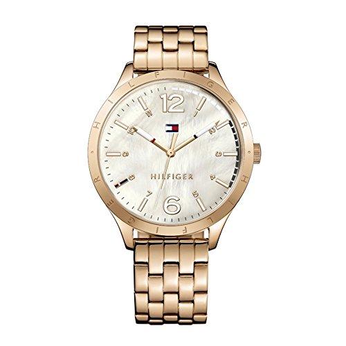 b4fc7d77e Tommy Hilfiger reloj de pulsera para mujer cuarzo analógico de acero  inoxidable salmón TH1781548 ...