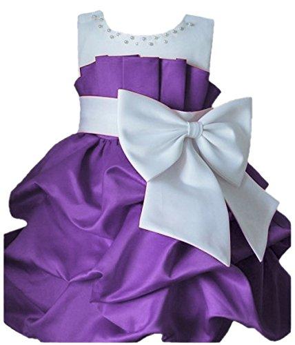 Y-BOA-Robe-de-Mariage-Petite-Fille-Tulle-Papillon-Noeuds-Plisse-Violet-2Ans