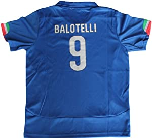 Buy 2014 ITALIA HOME BALOTELLI 9 FOOTBALL SOCCER KIDS JERSEY by FIGC
