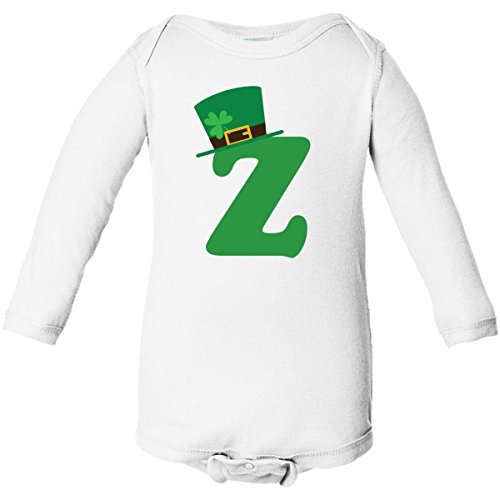 Inktastic Z Irish Letter Hat Long Sleeve Creepers Newborn White front-664711