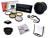 67MM Professional .35x Lens + Filter Accessory Kit for CANON Rebel T5i, T4i, T3i, T3, T2i, SL1, EOS 700D, 650D, 600D, 550D, 70D, 60D, 7D and 6D DSLR Cameras with 18-135MM EF-S IS STM Zoom Lens - Includes Opteka .35x Fisheye Lens, Filter Kit (UV, CPL, FLD