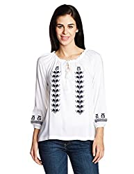 Chemistry Women's Tunic Top (C16-108WTTOP_White_Large)