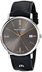 Maurice Lacroix Men's EL1087-SS001-811 Eliros Analog Display Analog Quartz Black Watch