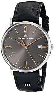 Maurice Lacroix Men's EL1087-SS001-811 Eliros Analog Display Analog Quartz Black Watch