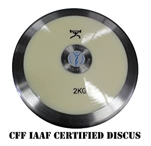 Buy CFF Mens 2 kg Discus IAAF Certified Competition Discus - 80% of the weight in the rim by CFF-FIT