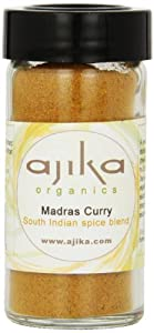 Ajika Organic Madras Curry Powder - An All Purpose Indian Spice Blend, 2.4-Ounce