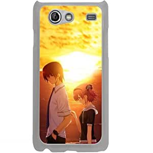 Casotec Girl Boy Sunset Sea Design 2D Hard Back Case Cover for Samsung Galaxy S Advance i9070 - Clear