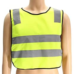Safety Vest High Visibility Childrens Waistcoat Jackets (yellow)