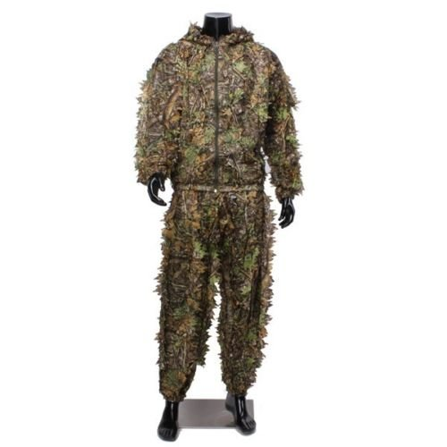 Buffalo Woodland or Forest Camo Ghillie Suit 3-D Leafy Poncho