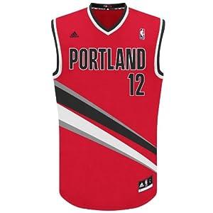 NBA Portland Trailblazers Red Replica Jersey LaMarcus Aldridge #12 by adidas