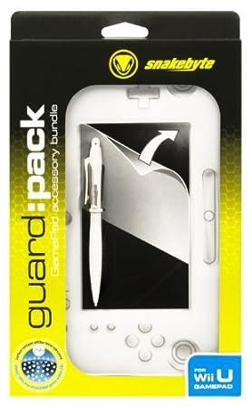 Pack d'accessoires blanc - coque de protection en silicone + Protection d'éran + Stylet pour Wii U