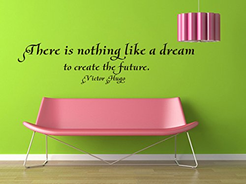 Wall Vinyl Decal Quote Sticker Home Decor Art Mural There is nothing like a dream to create the future Victor Hugo Z12