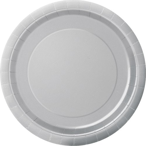 Silver Paper Cake Plates, 20ct