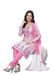 RK Fashion Womens Cotton Un-Stitched Salwar Suit Dupatta Material ( RAJGURU-PAHELI-9289-Pink-Free Size )