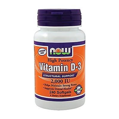 Now Foods Vitamin D-3 2,000 IU