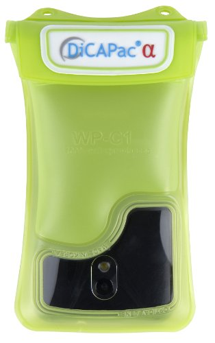 DiCAPac WP-C1 wasserdichtes Smartphone Case f&#252;r Android Smartphones wie HTC EVO 4G / HTC One / Samsung Galaxy S2 , S3 / Motorola Defy / Samsung Galaxy Nexus / LG Optimus / Sony Xperia uvm. (Farbe Android-Gr&#252;n)