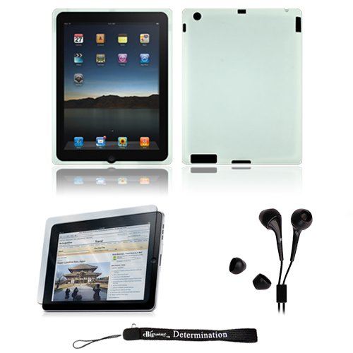 White Silk Premium Durable Protective Skin for Apple iPad 2 Tab Tablet 2nd Generation + Includes a High Quality and Durable Anti Glare Screen Protector, will prevent from any scratches and dirt going to your iPad Touch Screen