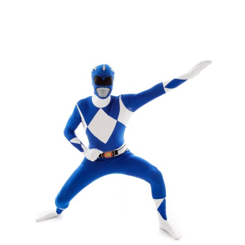 Morphsuits - Costume per travestimento da Power Rangers, Adulto, taglia: L, colore: Blu