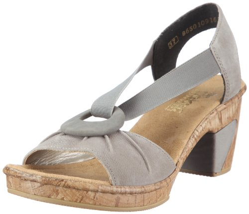 Rieker 69763-42 Fashion Sandals Womens Gray Grau (grau/dust 42) Size: 6.5 (40 EU)