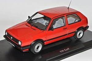 VW Volkswagen Golf II CL Rot 1983-1992 1/18 Norev Modell Auto mit individiuellem Wunschkennzeichen