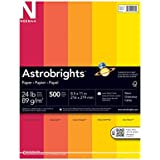Neenah Astrobrights Premium Color Paper Assortment, 24 lb, 8.5 x 11 Inches, 500 Sheets, Warm