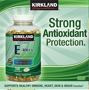 Kirkland Signature Vitamin E 400 IU, 500 Softgels