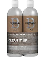 Wash and Care by TIGI Bed Head For Men Clean Up Tween Set - Clean Up Daily Shampoo 750ml & Clean Up Peppermint Conditioner 750ml