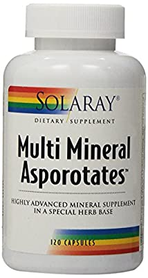 Solaray Multi Mineral Asporotates Supplement, 120 Count