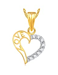 Meenaz Heart Pendant Locket Gold Plated Love Valentine Gifts Lockets Pendants For Girls Women With Chain In American...