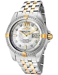Men's Windrider Automatic/Mechanical White Diamond White MOP Dial Stainless Steel & 18k Solid Gold