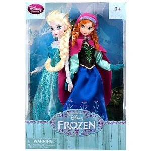 Disney US Disney official Ana and the snow Queen Frozen フローズンアナ and ELSA Anna Elsa figure 2 body set fashion doll Doll Toy